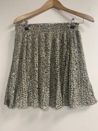 Skirt bewerkt plisse zwart
