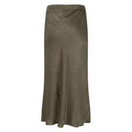 Skirt satin green