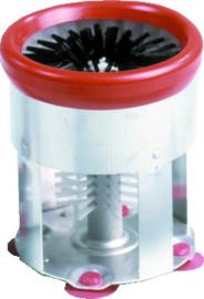 Glazenspoelborstel nylon/aluminium