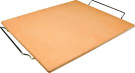 Pizzasteen rechthoekig 41x36x1,5 cm