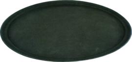 Dienblad polypropyleen/non-slip ovaal 56x68 cm zwart