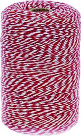 Rolladetouw rood/wit ca. 80 meter