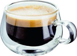 Espressokopje dubbelwandig glas set van 2