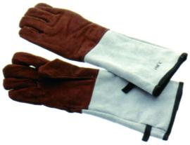 Ovenhandschoen (paar) 5 vingers leer gevoerd tot 250°C