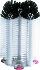 Glazenspoelborstel 5-delig rond nylon