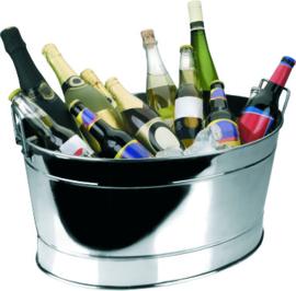 Wijnkoeler ovaal r.v.s. 27 liter