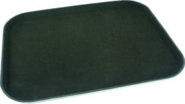 Dienblad polypropyleen/non-slip 36x46 cm zwart