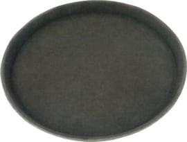 Dienblad polypropyleen/non-slip 36 cm zwart