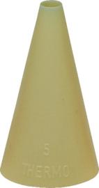 Spuitje glad kunststof nylon 5 mm