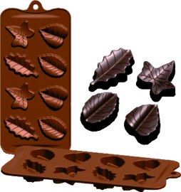 Chocoladevorm Blaadjes silicone