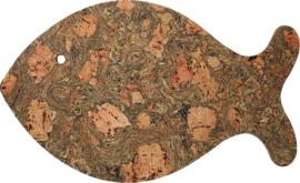 Onderzetter vis kurk T&G 36,6x22,3 cm