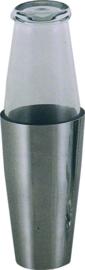 Boston shaker glas/r.v.s. 0,75 liter