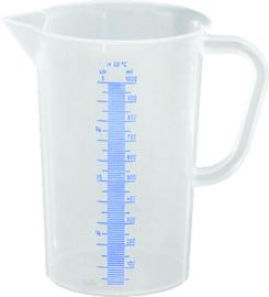 Maatbeker 1 liter kunststof polyethyleen met maatverdeling
