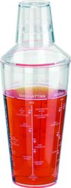 Cocktailshaker 660 ml. met opdruk acryl