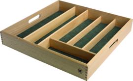 Bestekbak hout 6-vaks