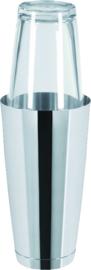 Cocktailshaker glas-r.v.s. 0,9 liter