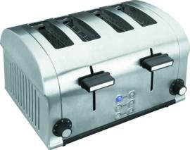 Broodrooster rvs 4-sleuf 1400 Watt