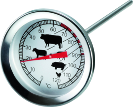 Vleesthermometer insteek r.v.s. 0-120°C