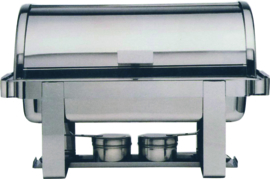 Chafing dish GN 1/1 Roll Top r.v.s. - 2 branders en GN inzet