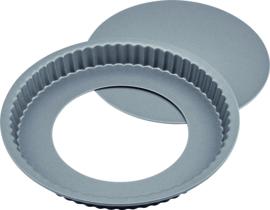 Vlaaivorm met losse bodem 25 cm carbon staal/anti-aanbak