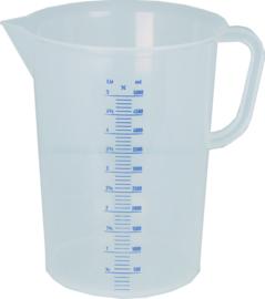 Maatbeker 0,10 liter kunststof polyethyleen met maatverdeling