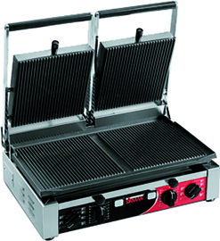 Contactgrill PDR 3000 dubbel ribbel/ribbel met timer