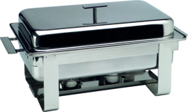 Chafing dish GN 1/1 2 branders r.v.s. Piazza