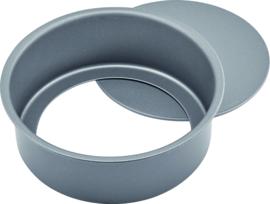 Bakvorm met losse bodem 20cm carbon staal/anti-aanbak