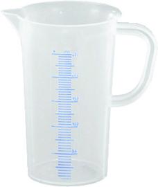 Maatbeker 0,25 liter kunststof polyetyleen met maatverdeling