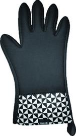 Moha ovenhandschoen 5 vingers Neopreen Top5 zwart/wit