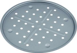 Pizza bakplaat 31 cm geperforeerd carbon staal/anti-aanbak