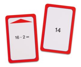 Magische hoed opdrachtkaarten, aftrekken tot 20