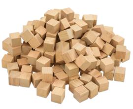 Cubi houten kubussen naturel 150 stuks