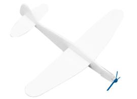 Polystyrene vliegtuigjes  set van 8