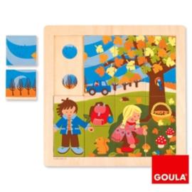 Puzzel deel - geheel - Herfst, 16-delig