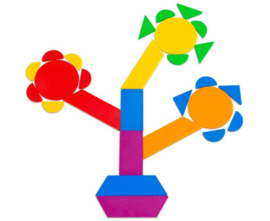 Geometrische tangram 288 stuks