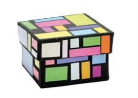 Vierkante doosjes klein, set van 10 stuks