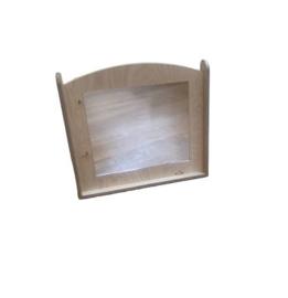# Paneel met spiegel voor grondbox Spill, berken