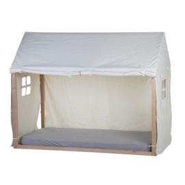 Speelhuis frame met cover wit, 90 x 200