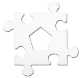 Fotokaders creatieve vormen, set van 24 puzzelstukken