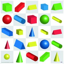 3D geometrische figuren mat