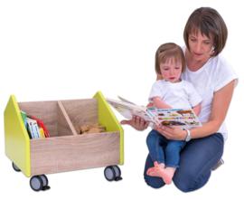 # EduCasa verrijdbare boekenwagen lime groen