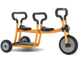 Pilot  orange tricycle 2 seats driewieler