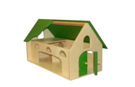 Boerderij met limegroen dak