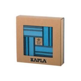 Kapla, boekje en 20 licht- en 20 donkerblauwe plankjes