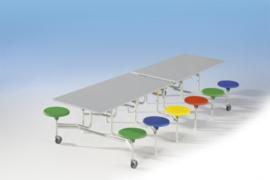 Spaceflex 12 zitplaatsen, melamine tafelblad, zithoogte 46 cm