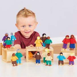 Poppenhuis poppen multicultureel