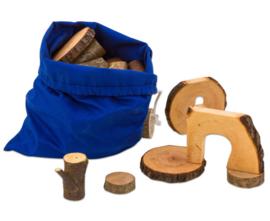 Ecoblocks in linnen zak, 36 stuks