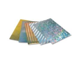 Holografisch karton 25 x 35 cm, 5 vel ass.