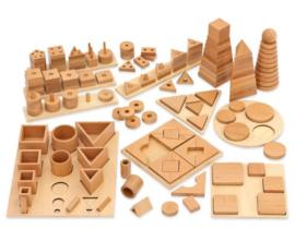 # Mega houten puzzel-ontdek set
